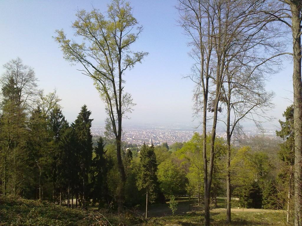 La vista sulla città di Torino dal parco della Rimembranza