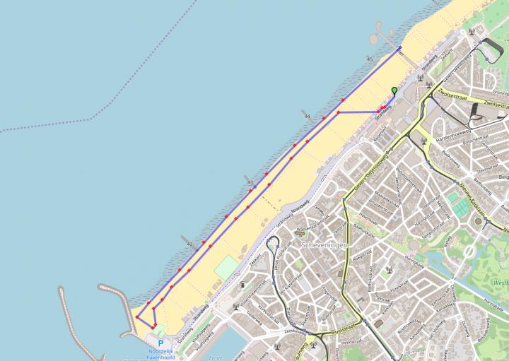MTB Beach Race - Scheveningen percorso